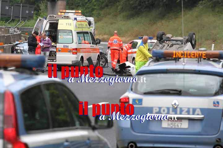 Incidente sull'A1 a Cassino, cinque operai feriti