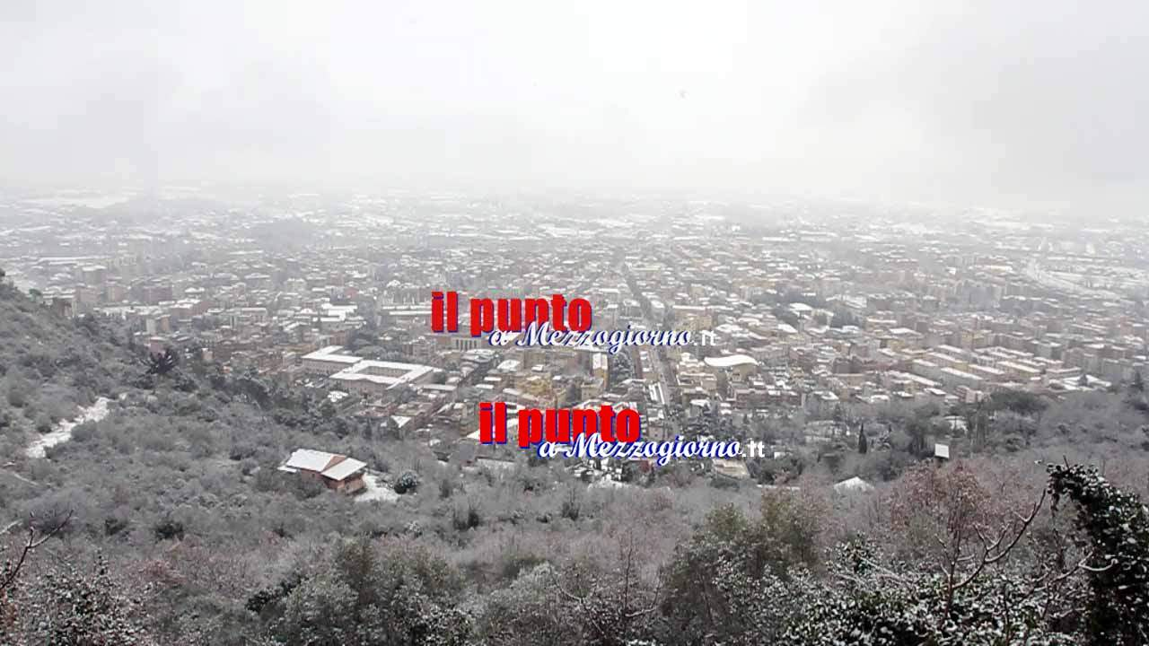 La neve imbianca Cassino e il Cassinate – IL VIDEO
