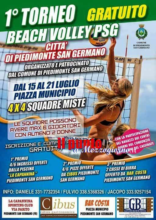 Primo torneo di Beach volley a Piedimonte San Germano