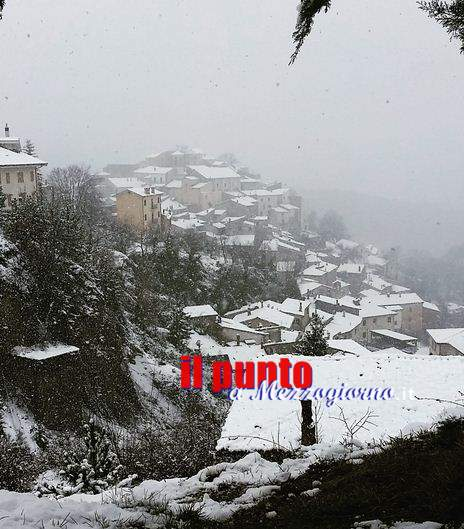Neve a Filettino, ottimismo per la stagione sciistica a Campo Staffi