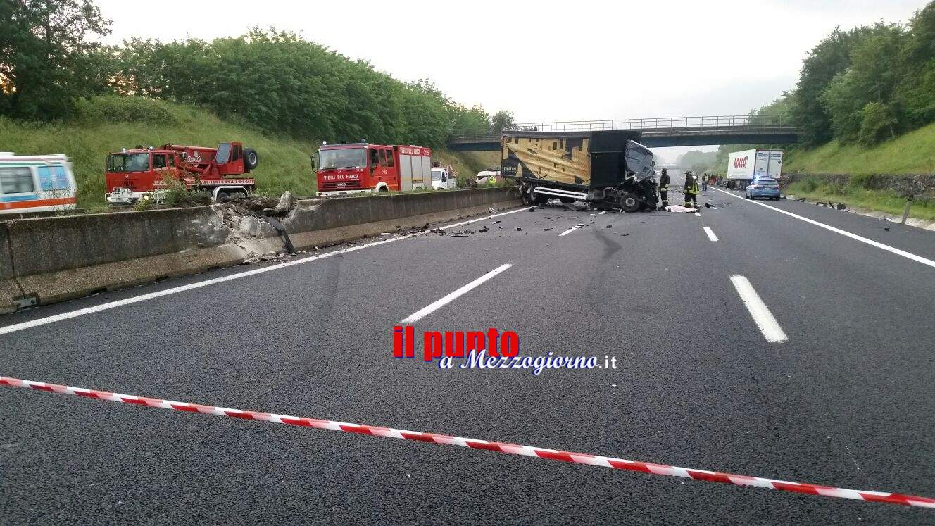 Incidente stradale mortale in A1 tra Cassino e Pontecorvo