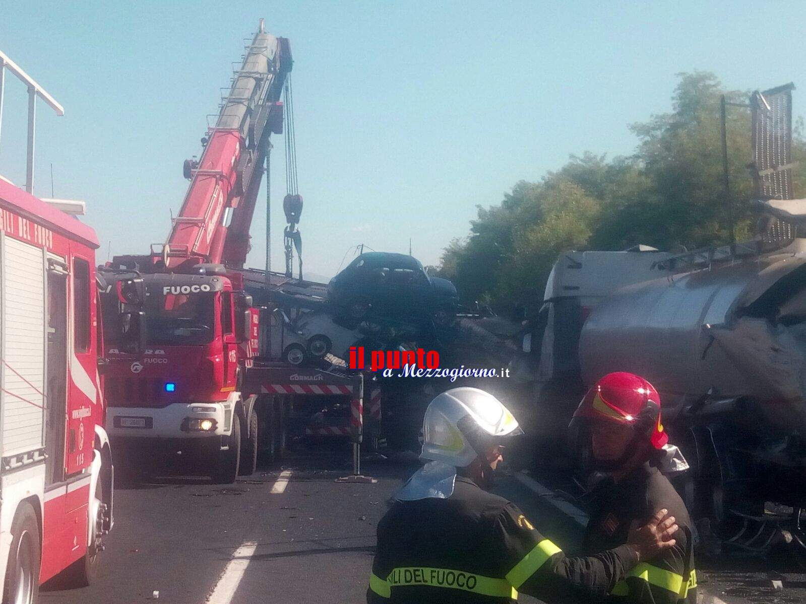 Incidente in A1 tra Pontecorvo e Cassino, bilancio pesantissimo. Due morti e tre feriti gravi