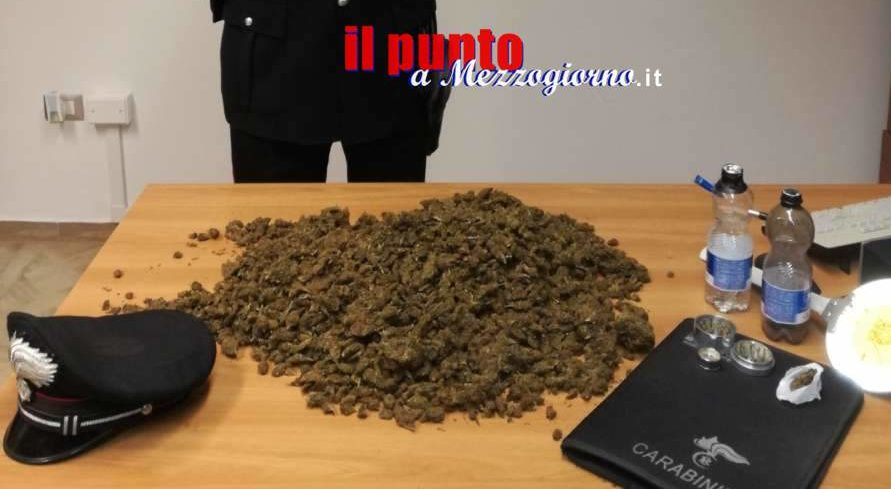 Nascondeva due chili di marijuana in casa a Frosinone, arrestato 23 enne