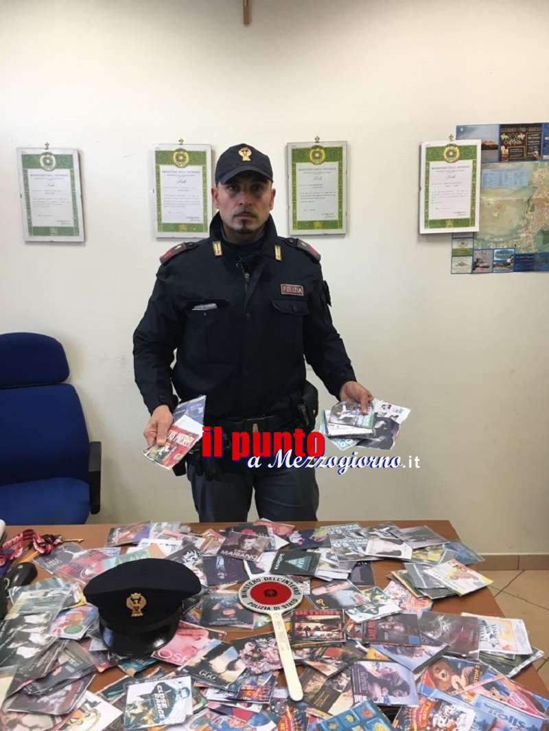 A Cassino per vendere cd e dvd Contraffatti, scatta il sequestro