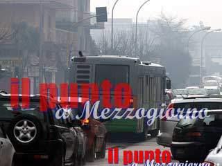 Due giorni di blocco del traffico contro le Pm10 a Frosinone