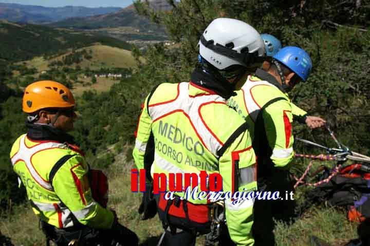 Colle San Magno – Ghiaccio in montagna, cacciatore di Aquino ferito salvato dal Soccorso Alpino