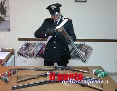 Furti di armi in provincia di Frosinone, rinvenuti 5 fucili: un arresto e due denunce