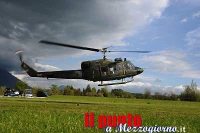 Elicottero dell'Aeronautica costretto ad atterraggio di emergenza a Ripi
