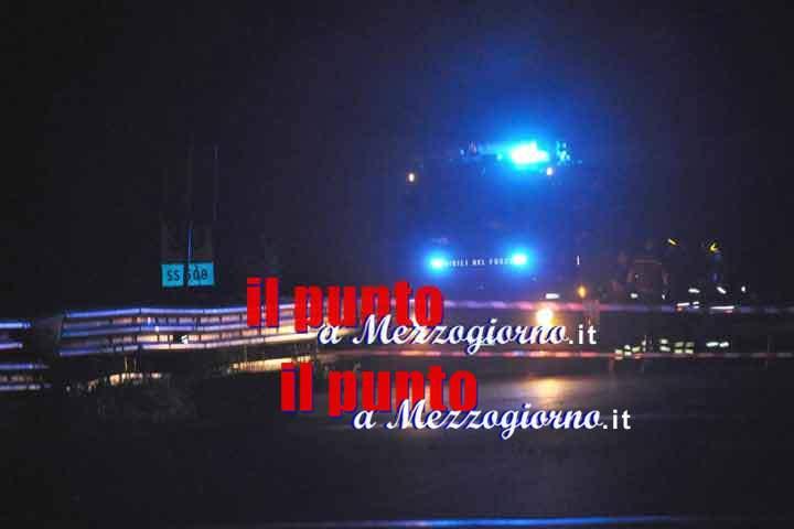 Collegamenti bloccati tra Sora e Cassino, Superstrada chiusa per caduta massi e deviazione chiusa per incidente