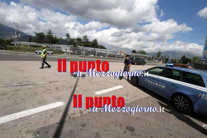 Volanti e Reparto Prevenzione Crimine della Polizia impegnate sull'asse attrezzato