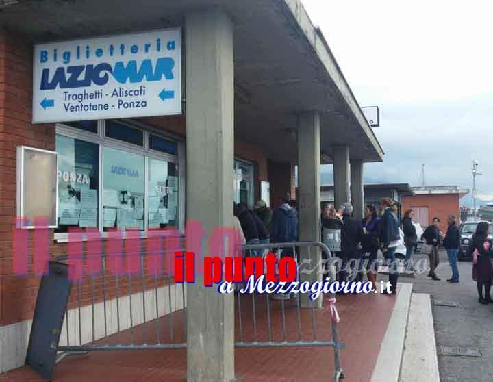 Maltempo, sospesi i collegamenti da Formia per le isole Pontine