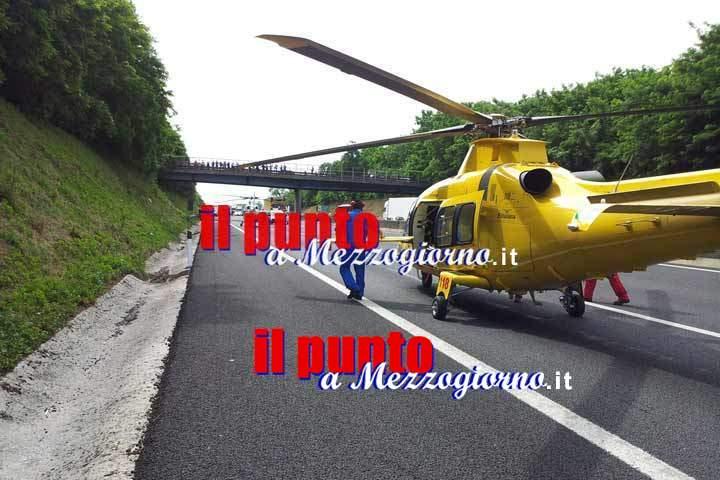 Pullman dell'Esercito coinvoto in incidente su A1 a Frosinone: 6 feriti