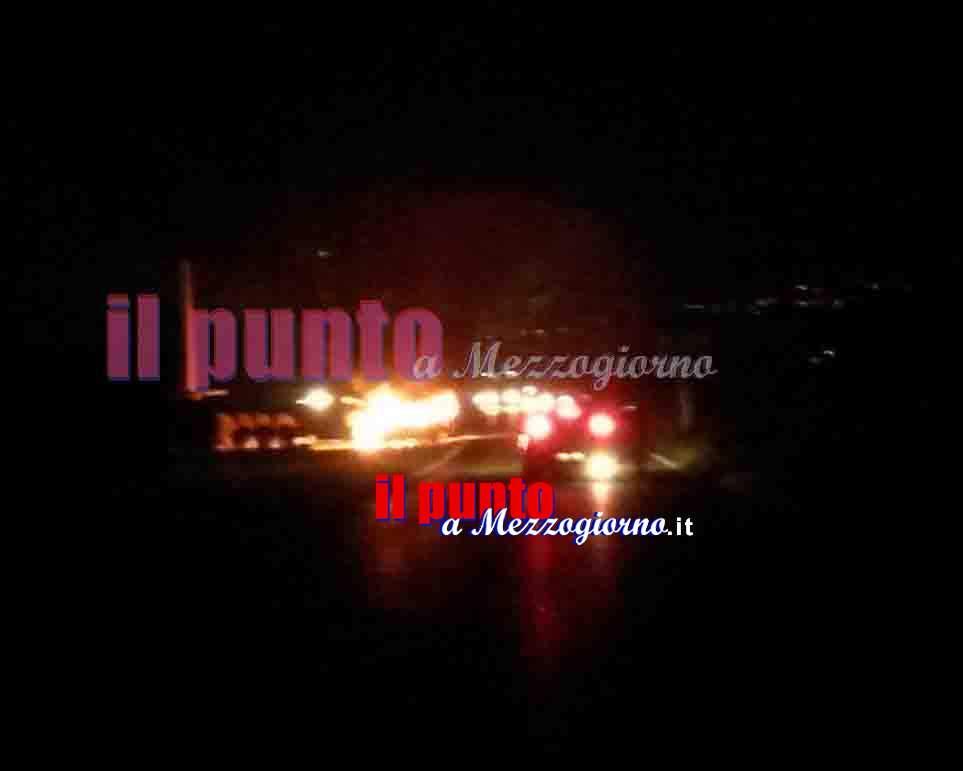 Auto in fiamme a Ferentino, esplode serbatoio di gas. Via Casilina chiusa per un'ora