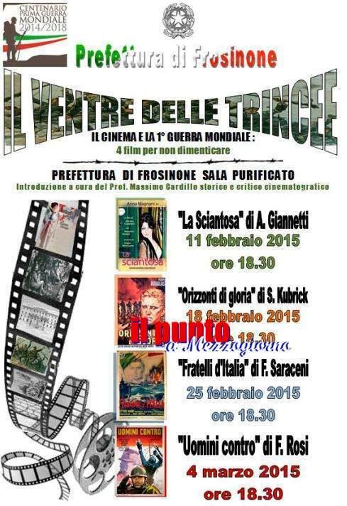 """La Prefettura diventa """"cinema"""",  """"Il Ventre delle Trincee"""" quattro film per non dimenticare la I guerra Mondiale"""