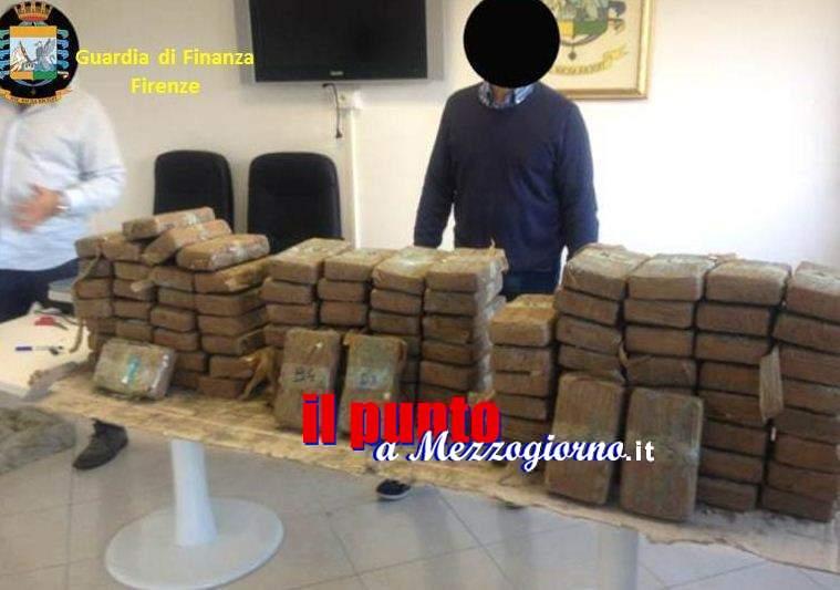 Fiume di cocaina della Ndrangheta che solca l'Italia, sequestrati a Firenze 280 chili di droga