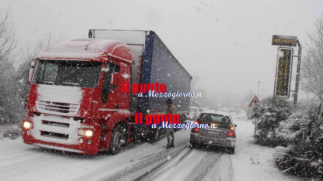 Grande freddo, il Prefetto di Frosinone dispone il blocco alla circolazione per i mezzi di oltre 7,5 t