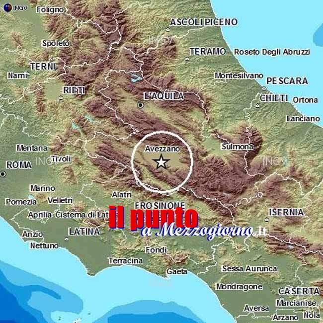 Trema la terra nella piana del Fucino, terremoto di magnitudo 3.9