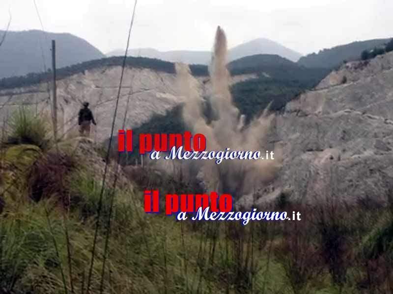 Conclusa l'operazione Artemide, esplosione controllata nella cava di Sant'Elia Fiumerapido