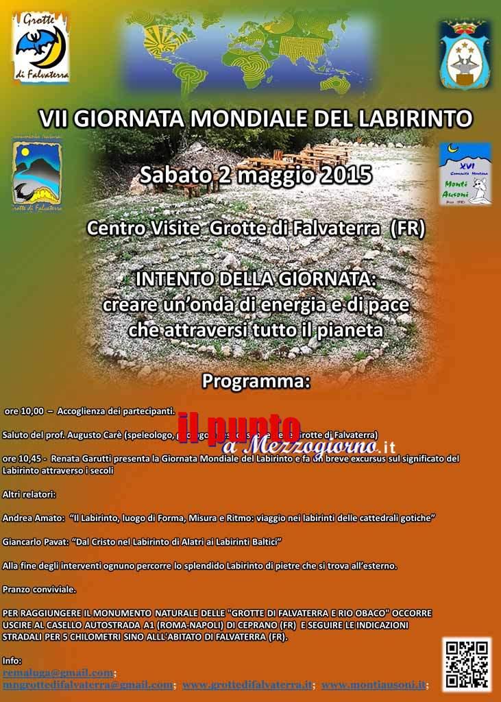 Sabato 2 maggio a Falvaterra la VII giornata mondiale del labirinto