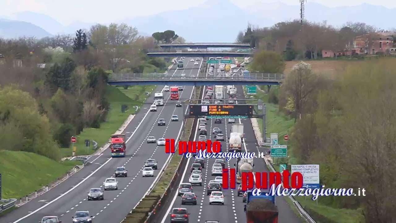Riaperto il tratto di A1 tra Ceprano e Frosinone direzione nord