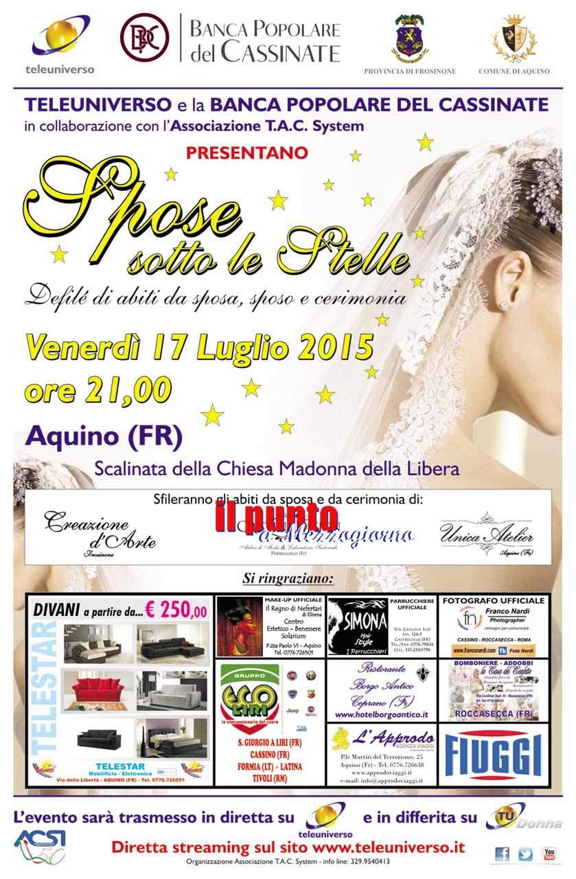 Vernerdì 17 ad Aquino Spose Sotto le Stelle 2015