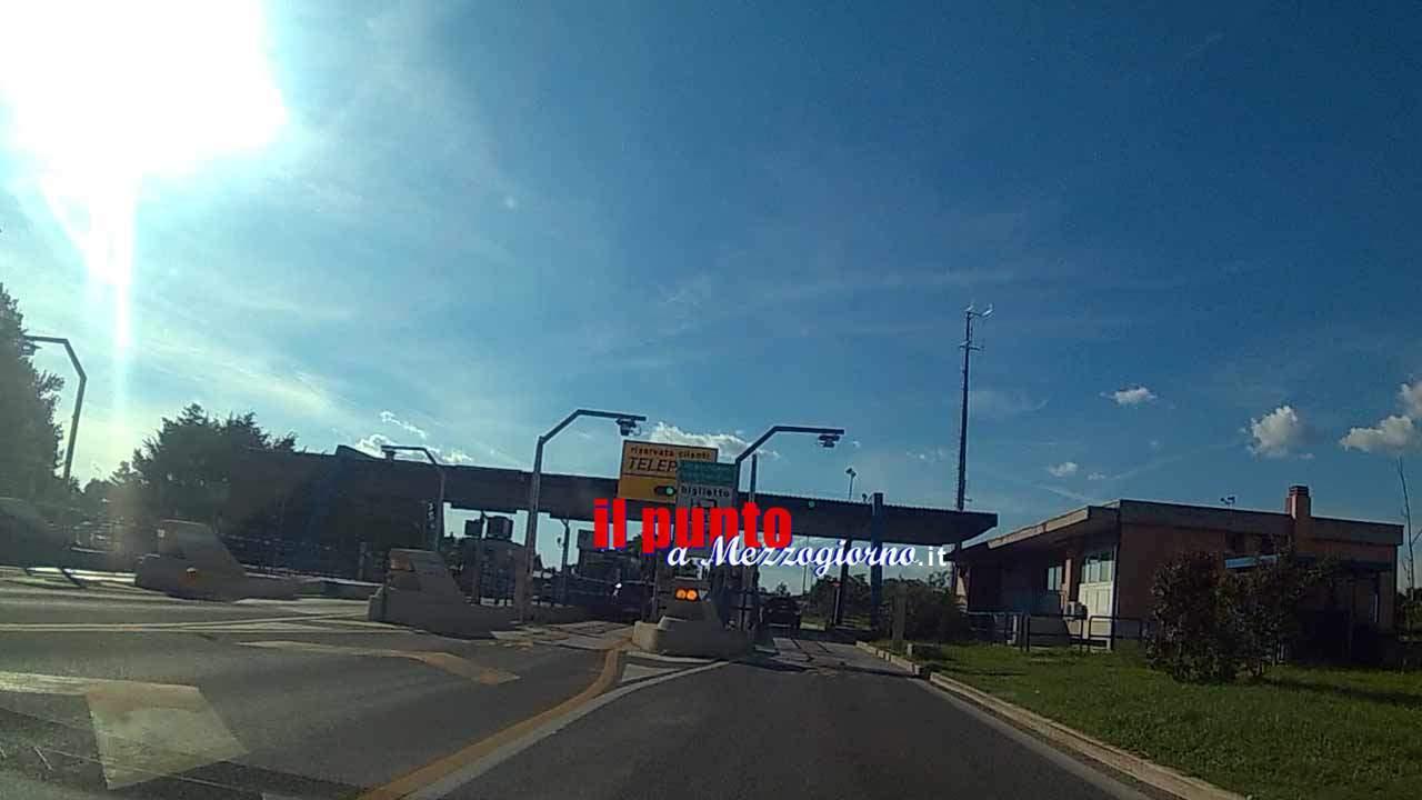Da stasera chiusa sull'autostrada A1 la stazione Pontecorvo Castrocielo