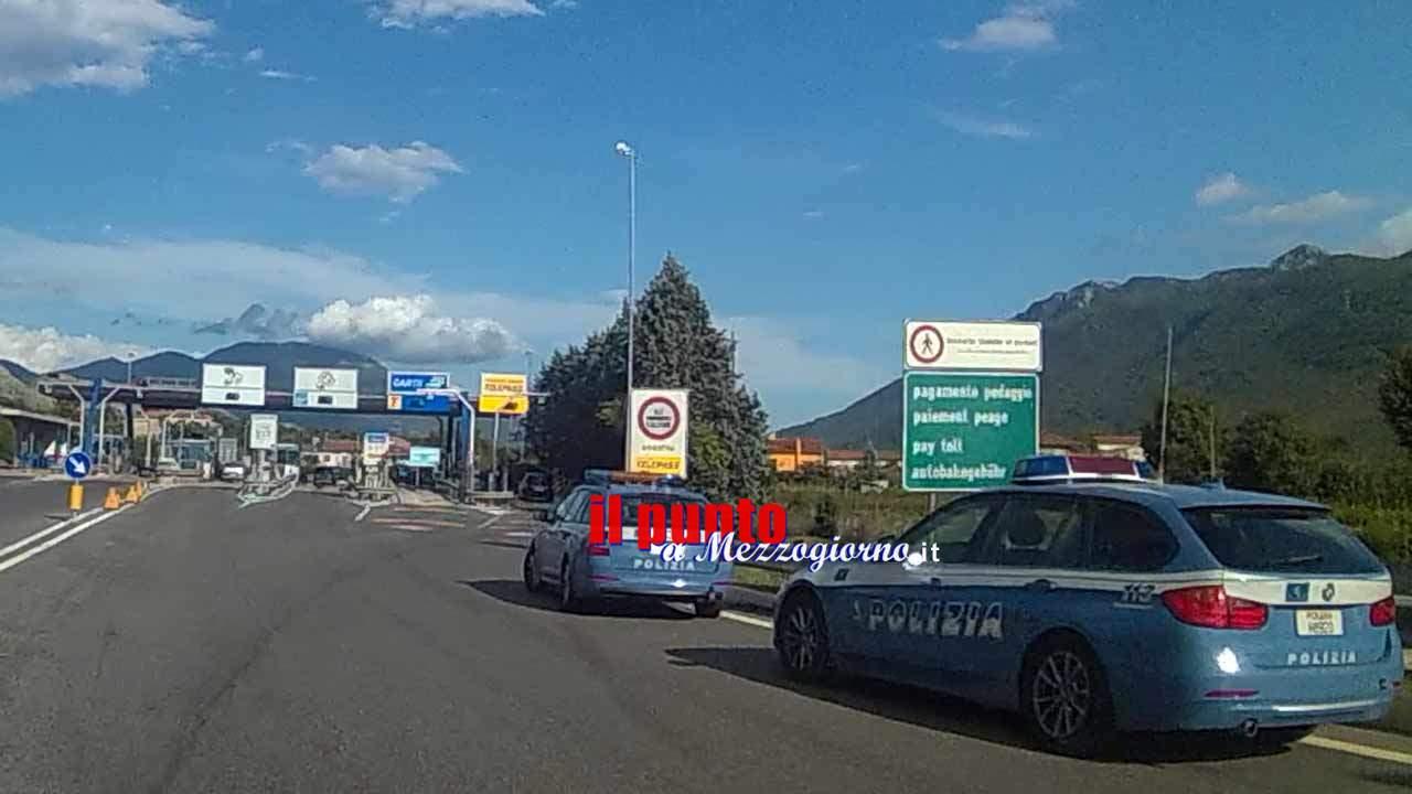 Falso allarme bomba sull'A1 ad Anagni, la valigia sospetta era vuota
