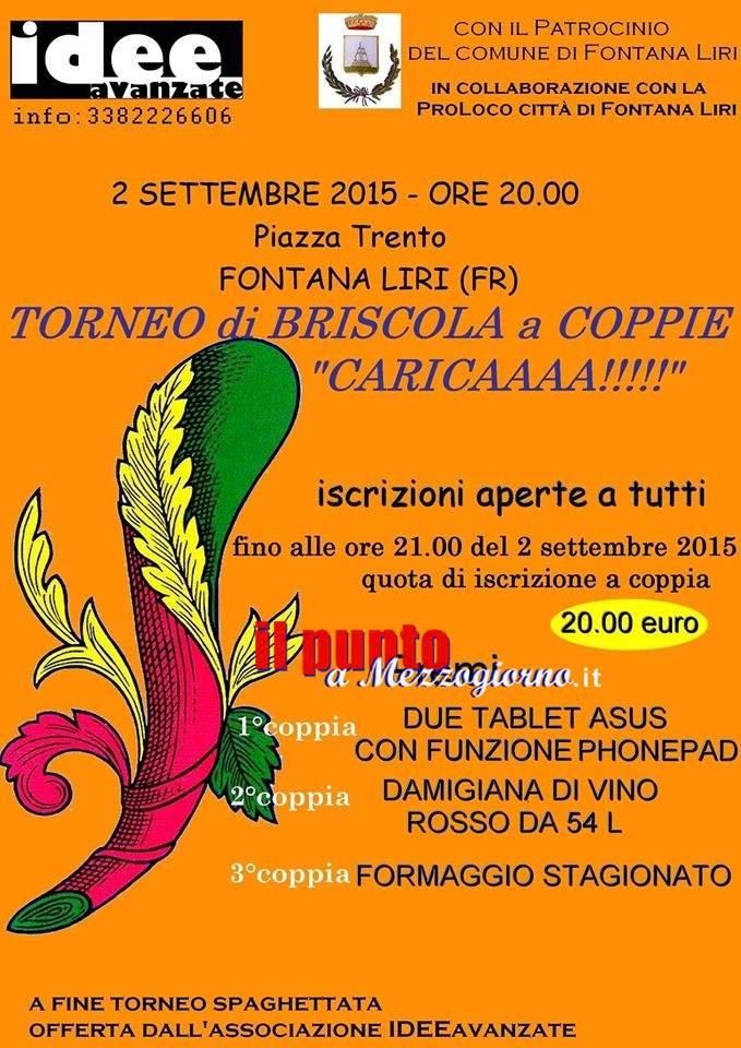 Torneo di briscola a Fontana Liri, i tablet sostituiscono i maialini