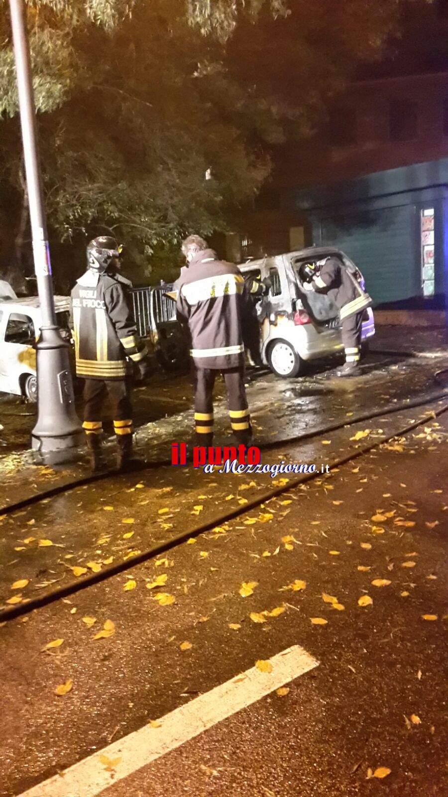 Auto in fiamme a Sezze, distrutta una Micra e una Agila