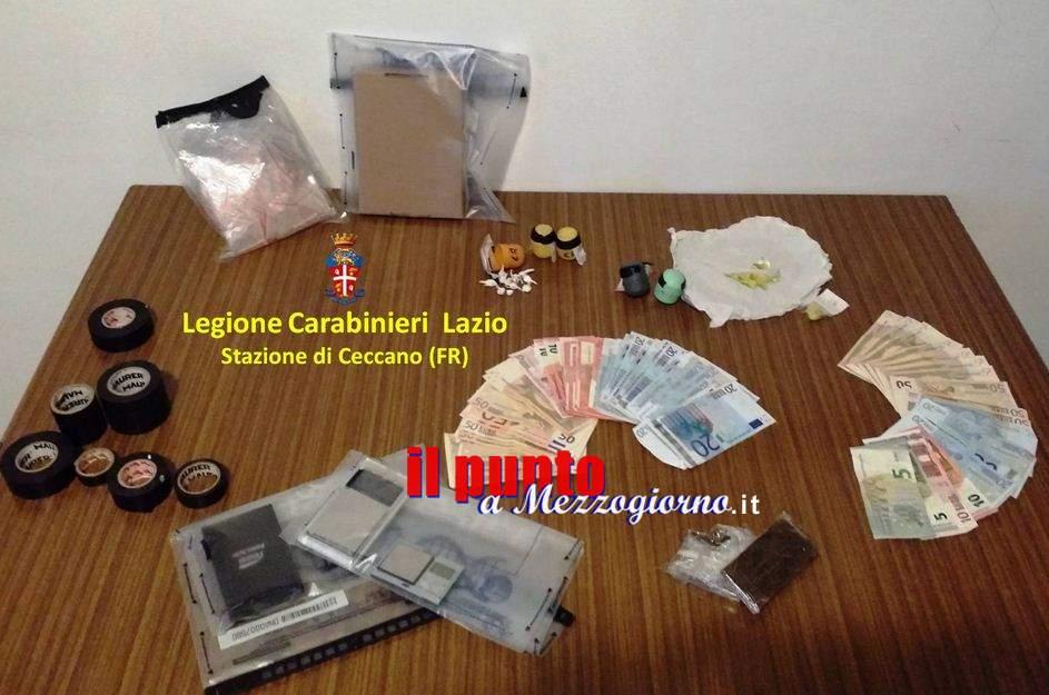 Spaccio casa e bottega, tre uomini arrestati a Ceccano
