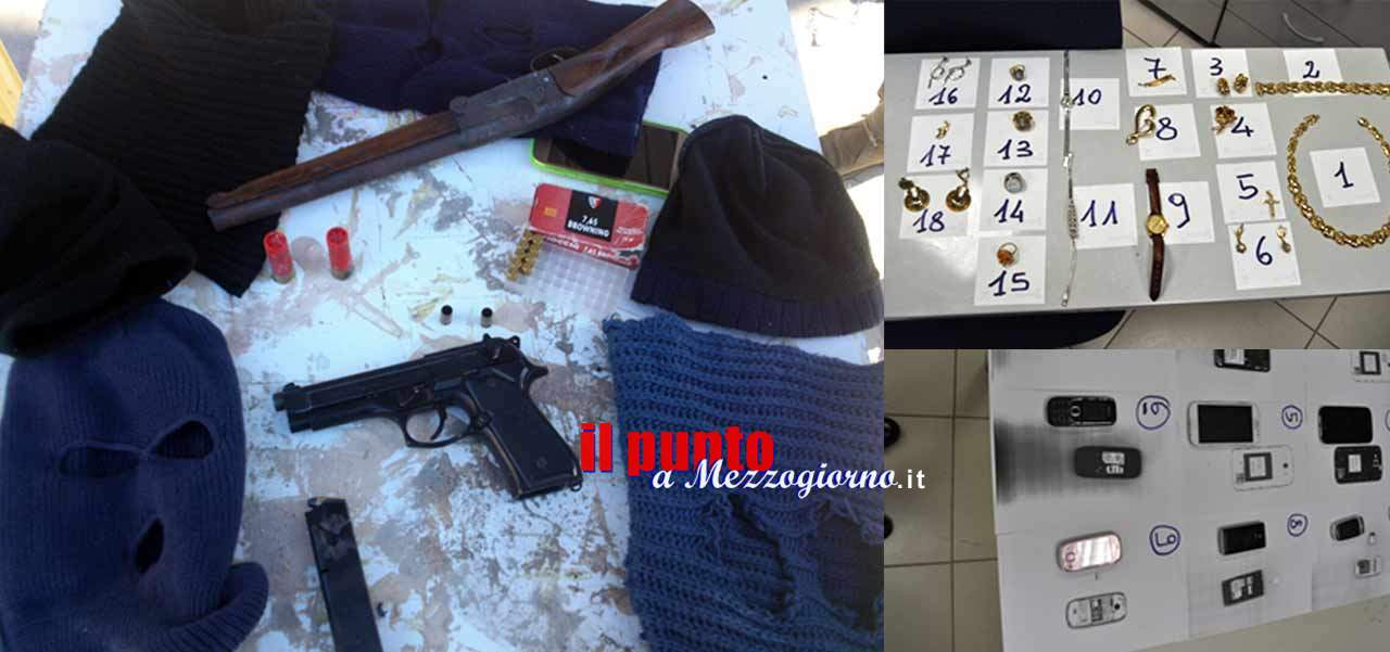 Rapinatori seriali a Castel Volturno arrestati dalla polizia