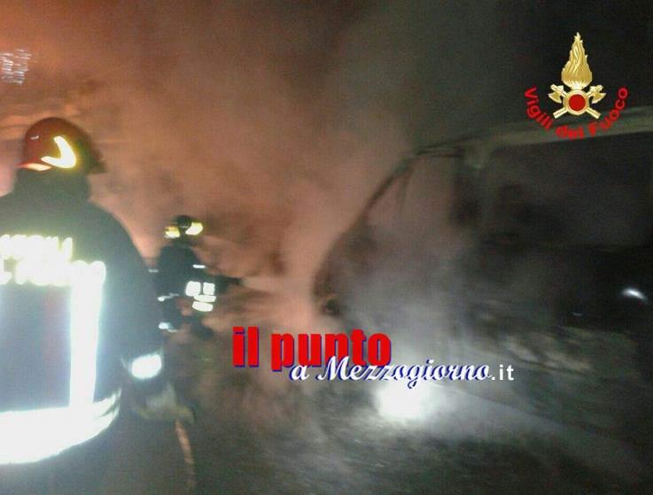 Due furgoni incendiati a Santopadre, indagano i carabinieri