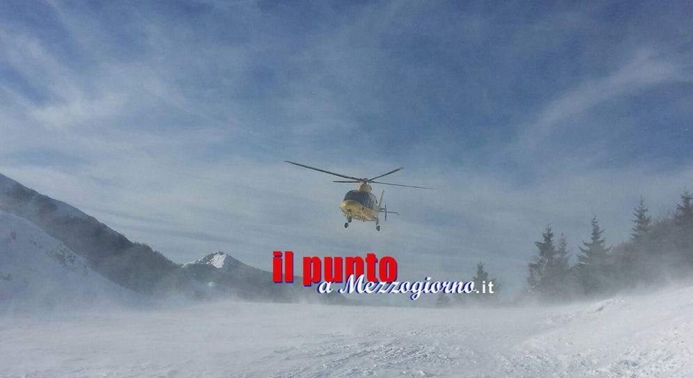 Escursionista bloccato nel ghiaccio su Monte Scalette a Veroli