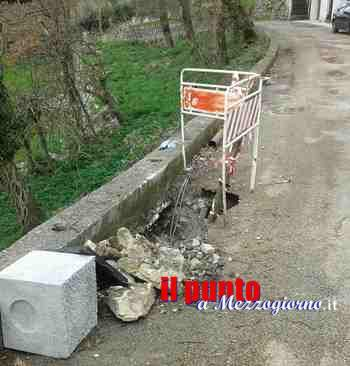 Lampioni pericolanti a Castelnuovo Parano, manutenzione in corso