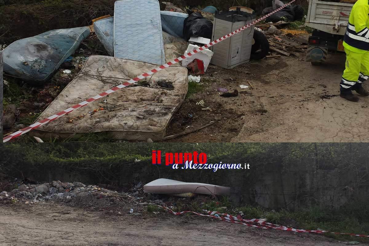 Micro discariche dietro il termovalorizzatore a San Vittore, l'emergenza continua