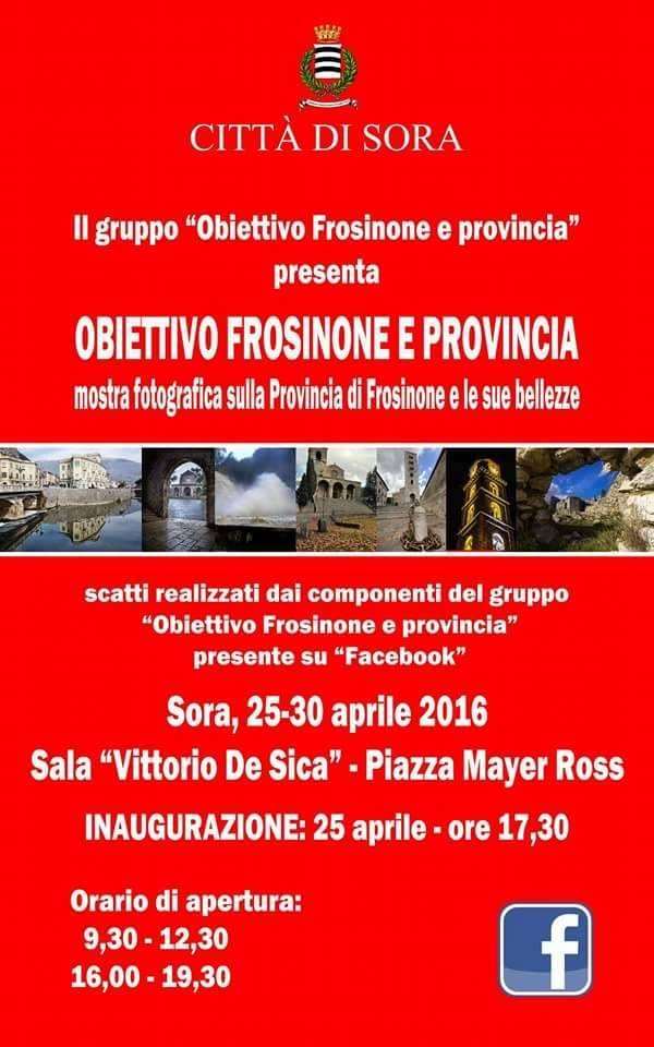 """A Sora la mostra fotografica """"Obiettivo Frosinone e provincia"""""""
