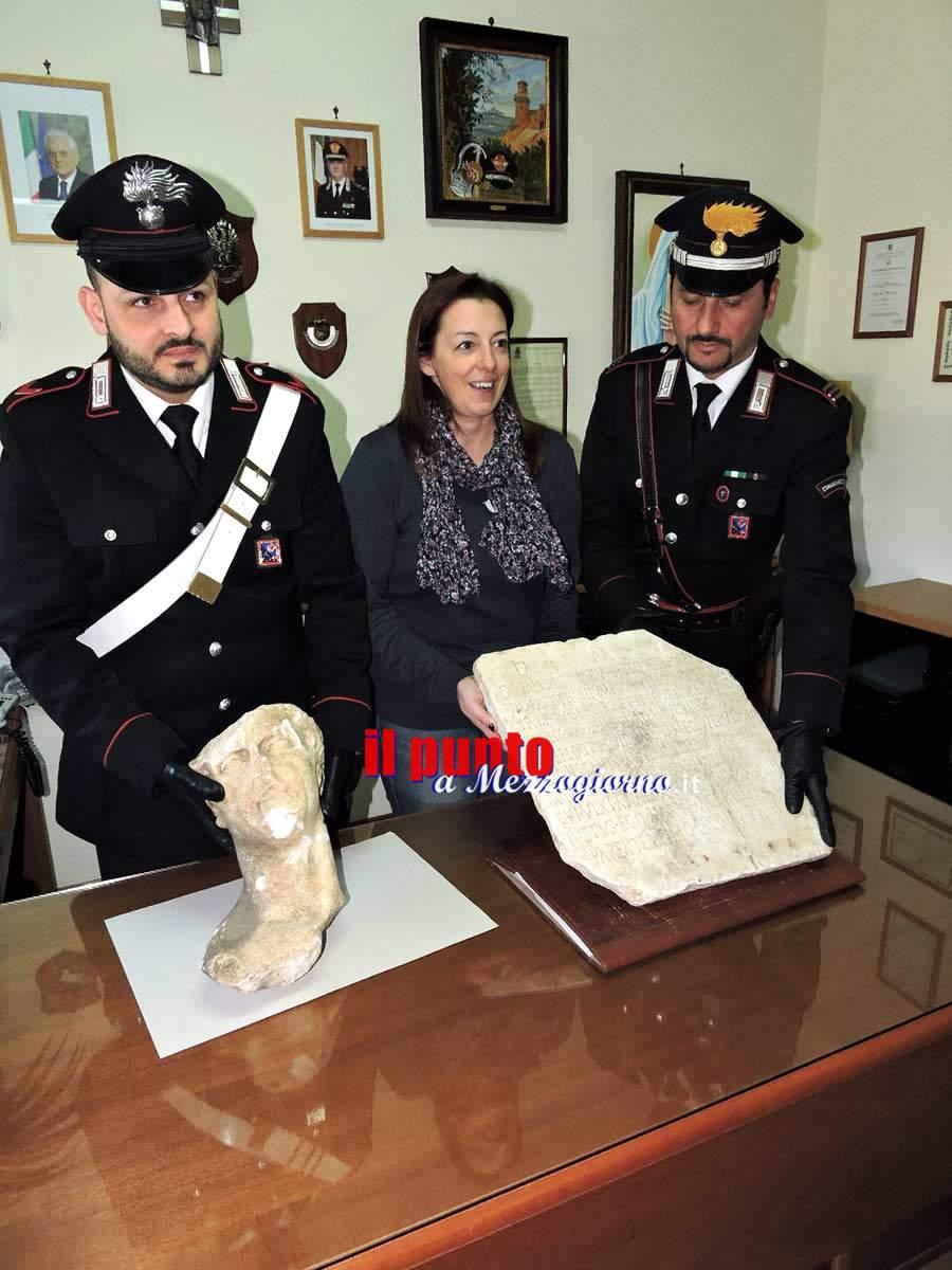 Teano – Rubavano e vendevano illegalmente reperti archeologici, 4 persone nei guai