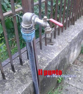 Da sei giorni è penuria idrica nella zona di via Vallommare a Castelnuovo Parano