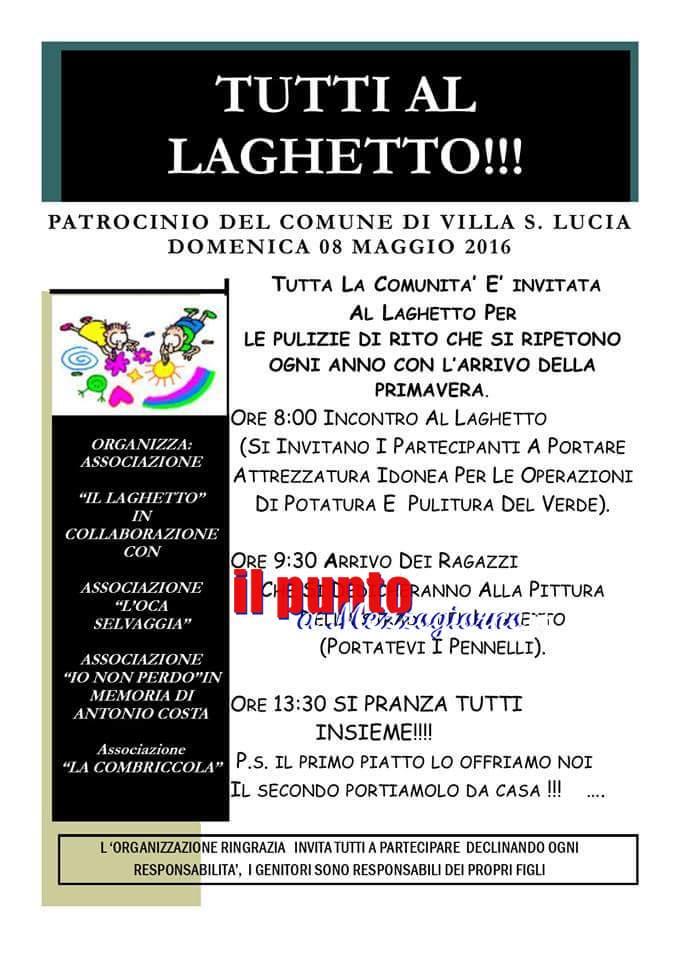 Tutti al Laghetto. Iniziativa sociale a Piumarola domenica 8 maggio