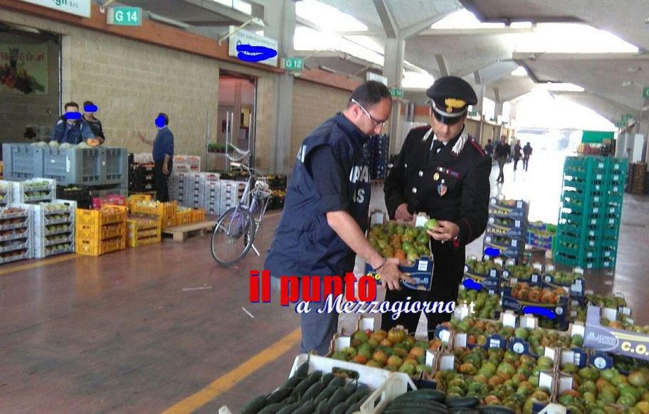 Multe e sequestri al Mof di Fondi, i carabinieri del Nas passano al setaccio il mercato ortofrutticolo