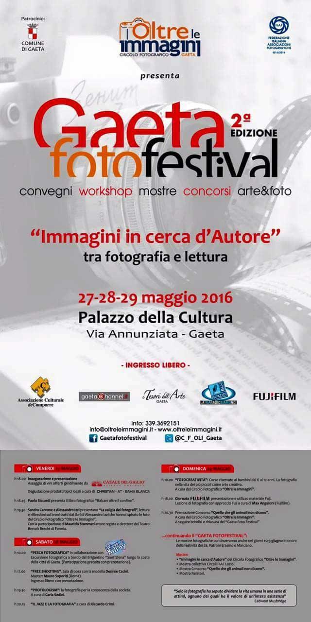 """Gaeta Foto Festival 2016, """"Immagini in cerca di autore"""" tra fotografia e lettura"""