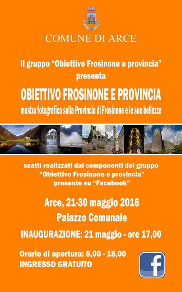 """La provincia di Frosinone si mette in mostra ad Arce con """"Obiettivo Frosinone e provincia"""""""