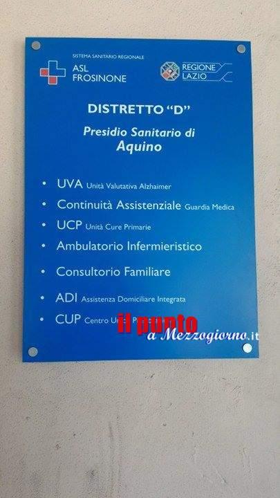 Presidio ASL di Aquino, attiva l'Unità di Cure Primarie per tutto il territorio