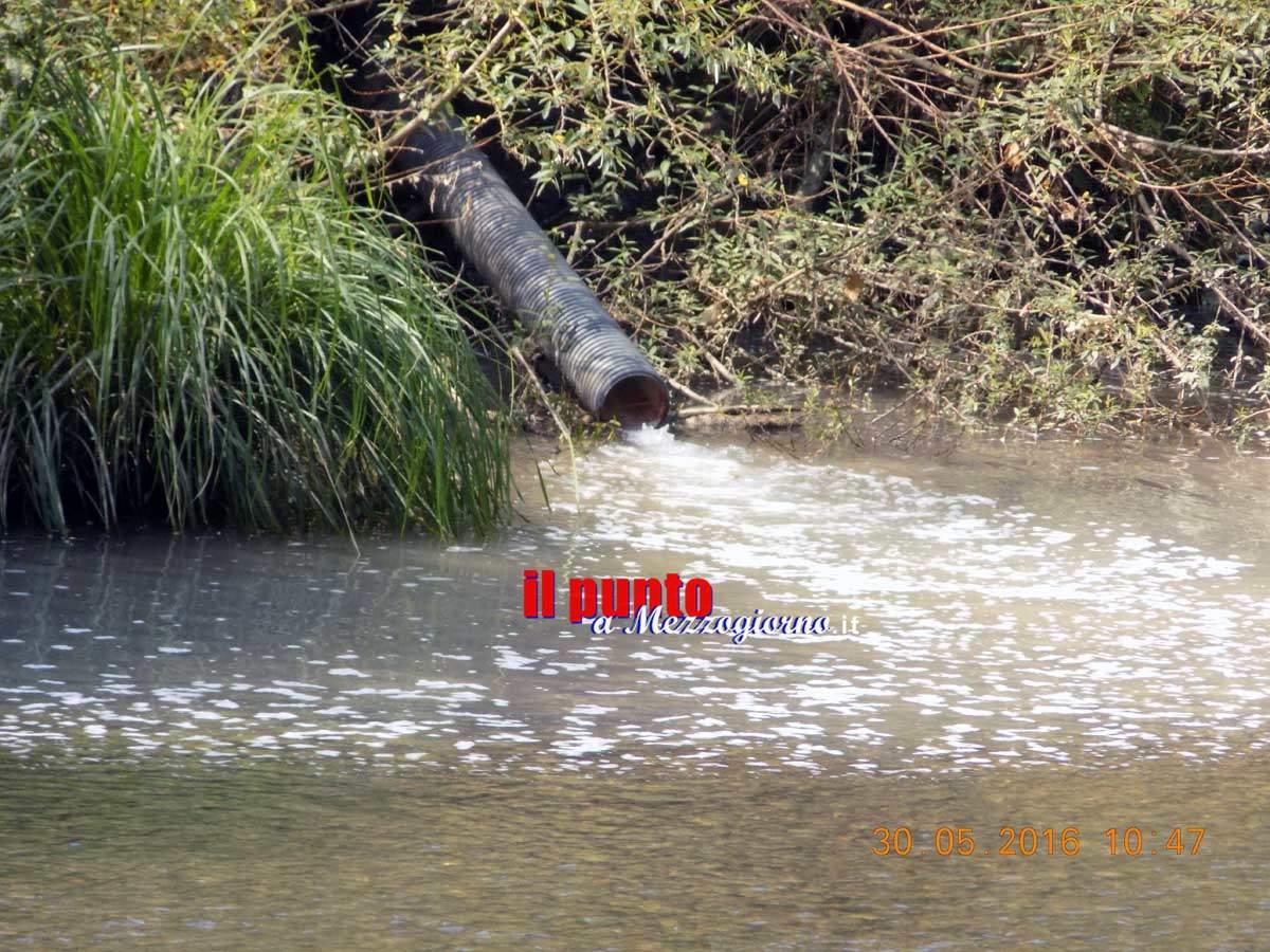 Schiuma nel fiume Liri a Pontecorvo, sequestrati gli impianti di scarico acque di una lavanderia