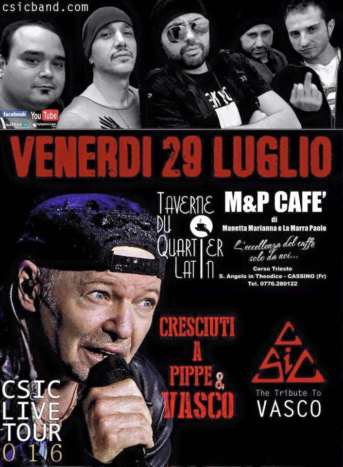 Domani a Sant'Angelo il concerto dei Csic, nota cover di Vasco Rossi
