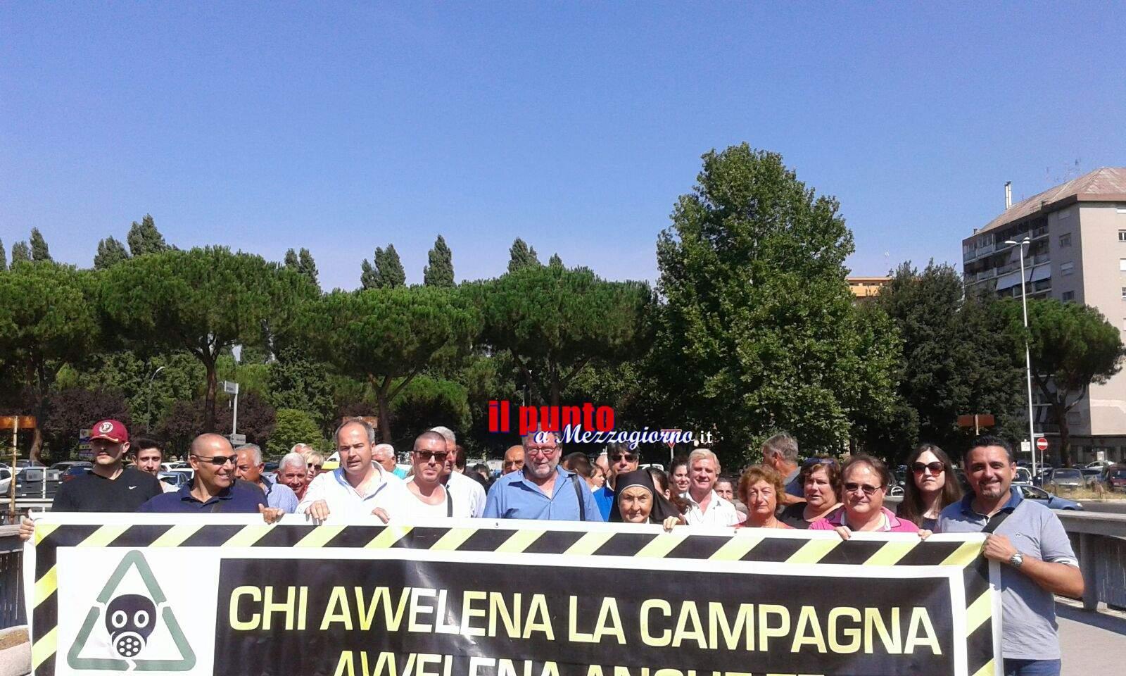 Da Piedimonte a protestare davanti la Regione Lazio contro l'impianto di compostaggio
