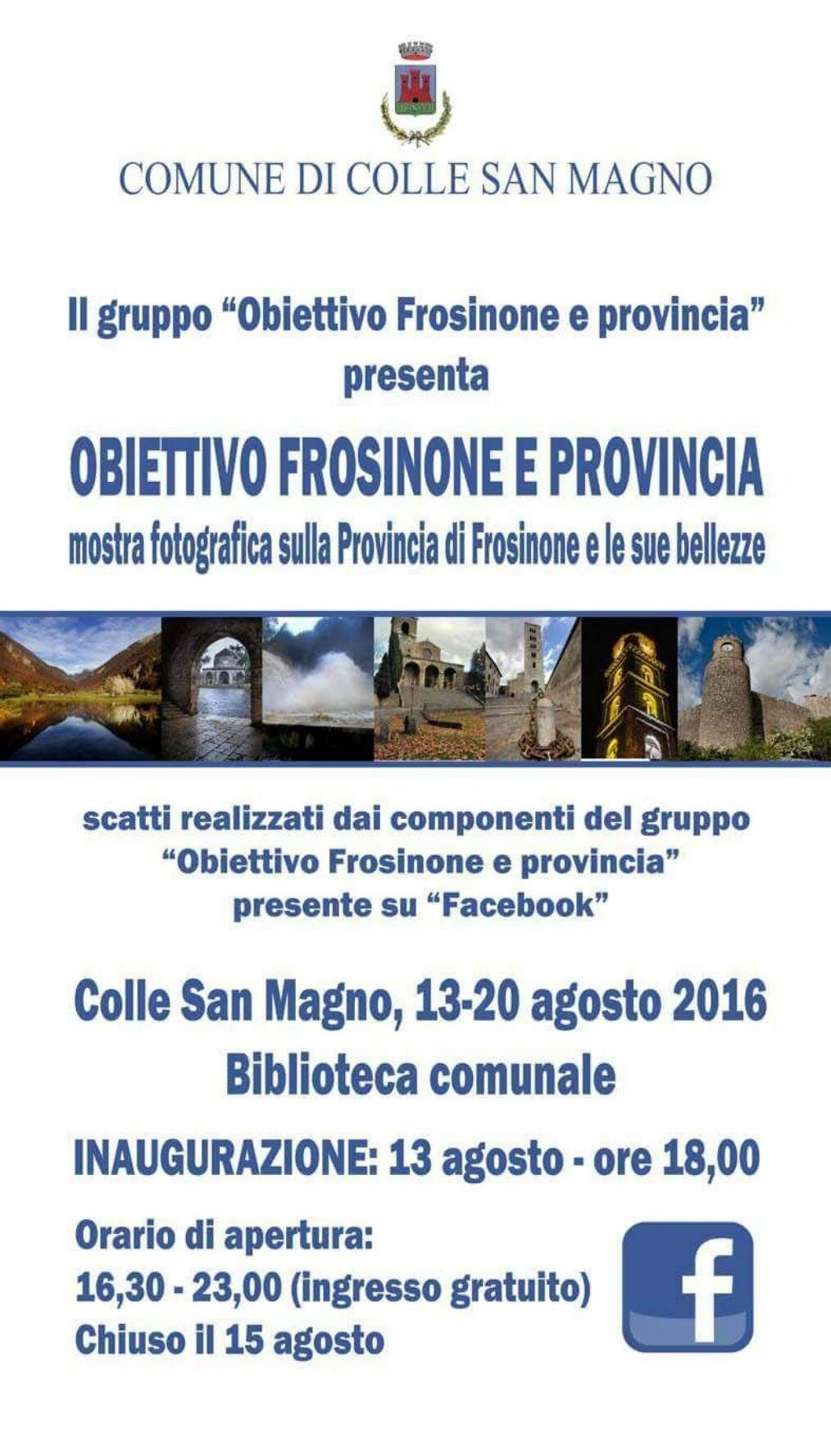 A Colle San Magno la mostra fotografica del gruppo Obiettivo Frosinone e provincia