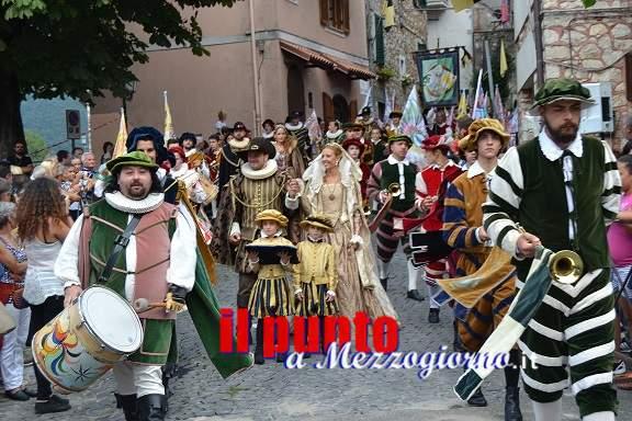 XXIV° Pallio della Carriera: Donna Olimpia Aldobrandini entra a Carpineto Romano con il Treno Storico il 21 agosto