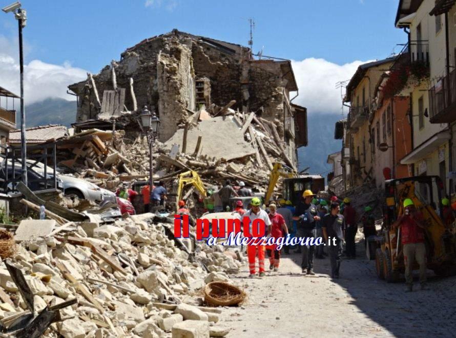 Terremoto, le forze in campo