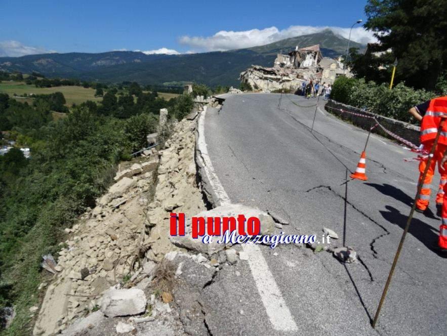 Terremoto, chiusa la Salaria tra Rieti e Ascoli e la SS 685 delle Tre Valli Umbre tra Perugia e Ascoli